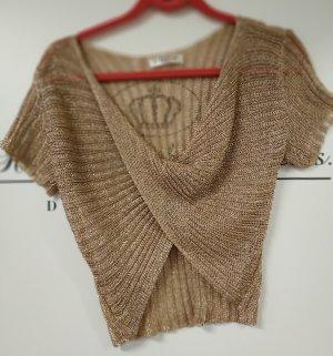 weiss nicht Glanzende blouse brons