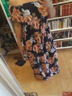 Off-The-Shoulder Dress pink-dark blue