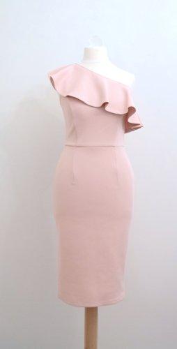 Schönes One-Sholder-Kleid mit Volant