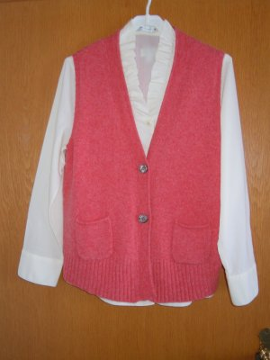 Peter Hahn Long Sleeve Blouse natural white-salmon wool