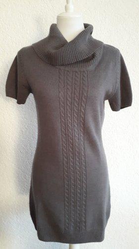 schönes Pulloverkleid,Zopfmuster,grau,S/36/38