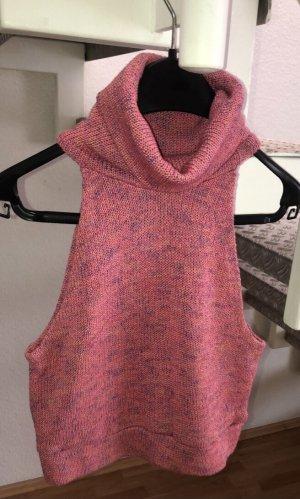 Asos Crochet Top pink mixture fibre