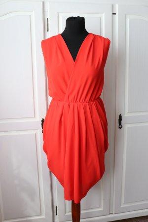 Schönes rot orangenes edles Kleid von Yas Größe S 36