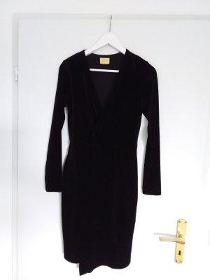 H&M Premium Robe portefeuille noir tissu mixte