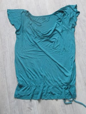 Esprit Camisa con cuello caído petróleo Viscosa