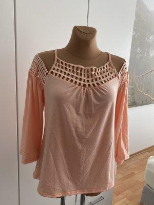 Schönes schulterfreies Shirt in apricot