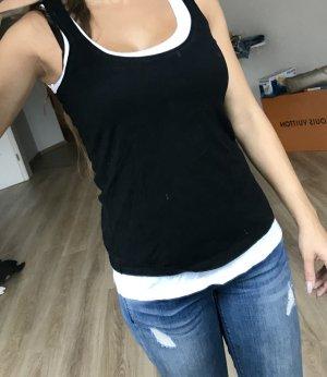 Schönes Schwarz weißes top