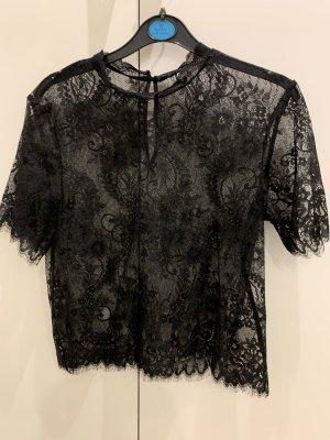Schönes schwarzes Spitzen T-Shirt