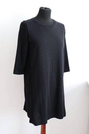 Schönes schwarzes Sweat Kleid von Zara in A-Linie 3/4 Ärmel Größe M 38
