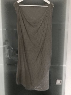 Made in Italy Robe épaules nues gris brun