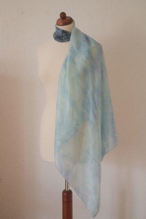 Handarbeit Silk Cloth blue-neon blue