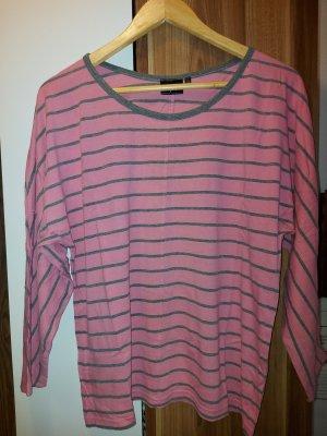 bpc bonprix collection T-shirt szary-różowy