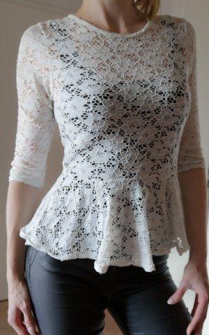 schönes Shirt Bluse mit Spitze 3/4 Arm