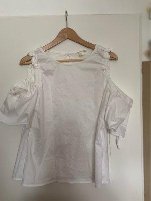 H&M T-shirt w kolorze białej wełny