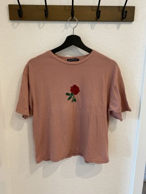 Brandy & Melville T-shirt color oro rosa-rosso scuro