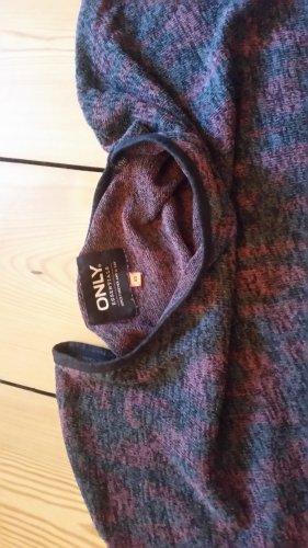 Only Gebreid shirt zwart-bordeaux