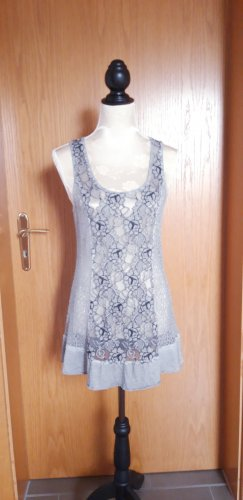 Tredy Shirt Tunic silver-colored-anthracite