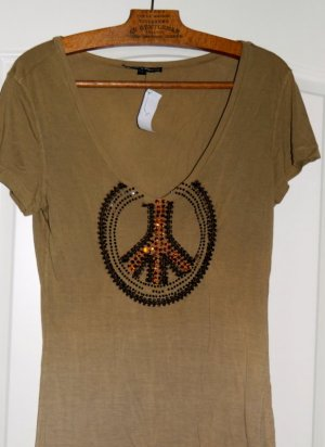Amor & Psyche T-Shirt bronze-colored cotton