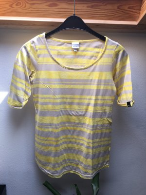 Schönes Shirt von Bench Größe M Gelb/Grau gestreift