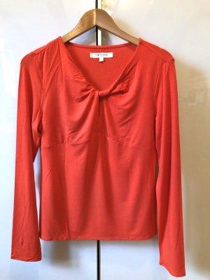 L.k. bennett V-Neck Shirt bright red viscose