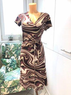 Comma Vestido cruzado multicolor Viscosa