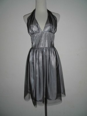 Schönes silbernes Sommerkleid