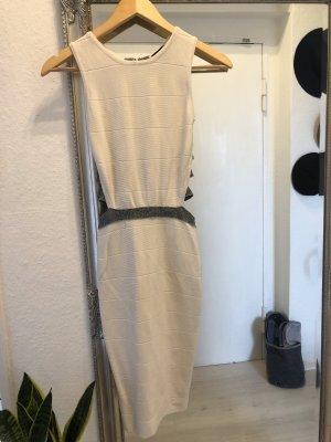 Hot Miami Styles Cut Out Dress white-silver-colored