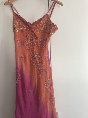 Robe à paillettes orange-violet