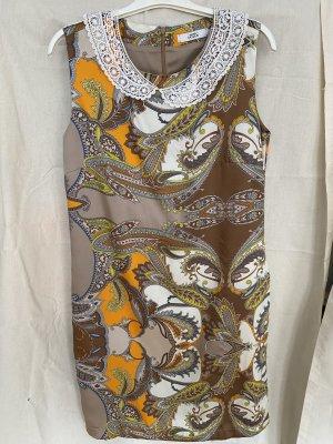 0039 Italy Sukienka z krótkim rękawem Wielokolorowy Poliester