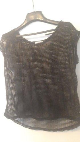 Orsay Camisa de malla negro