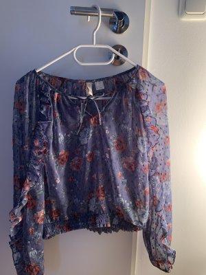 H&M Flannel Shirt azure-pink