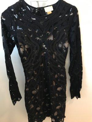 schönes spitzen Kleid in schwarz/beige