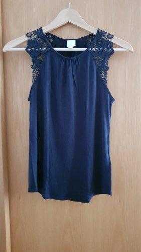 H&M Lace Top dark blue