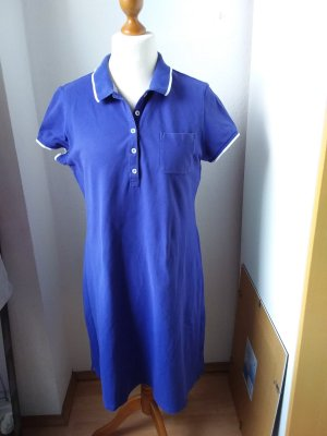 Lands' End Polo Dress blue violet-purple cotton