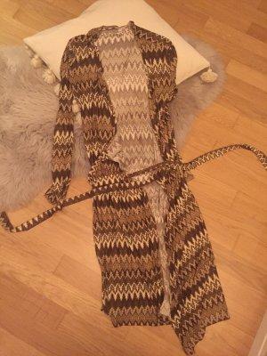 Bea Tricia Sukienka ze stretchu czarno-brązowy-kremowy