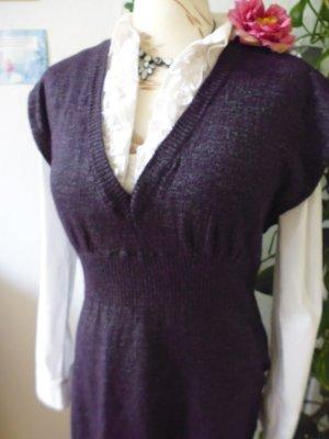 Rich & Royal Robe en maille tricotées violet-brun pourpre tissu mixte