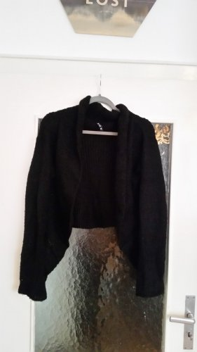 One green elephant Knitted Bolero black