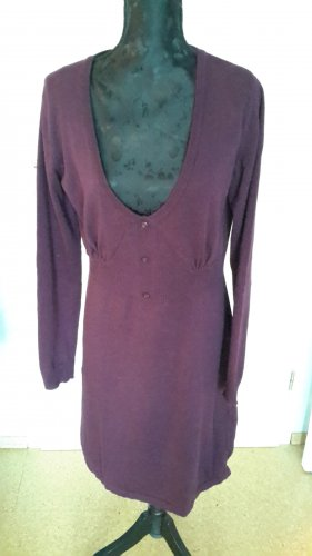 Aniston Knitted Dress bordeaux cotton