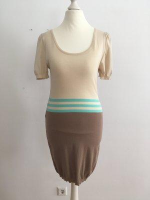 Betty Blue Abito di maglia turchese-beige chiaro