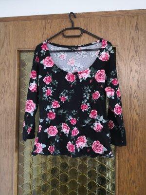 Schönes Sweatshirt von Amisu mit Blumenmuster
