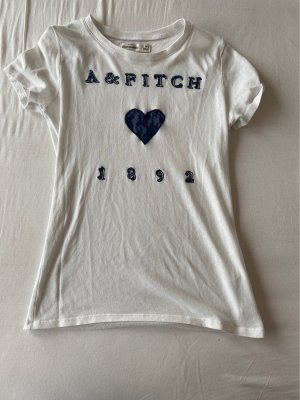 Abercrombie & Fitch T-Shirt white-dark blue