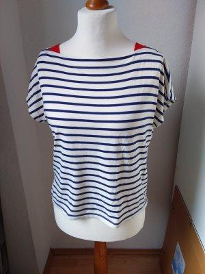 Schönes T-Shirt blau-weiß gestreift Größe M