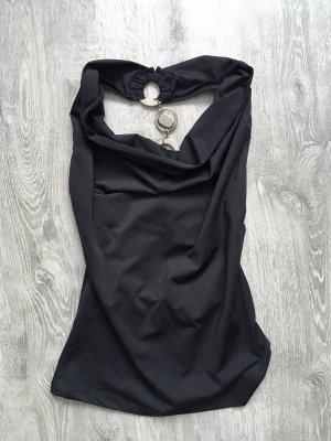 Koszulka w paski czarny-srebrny