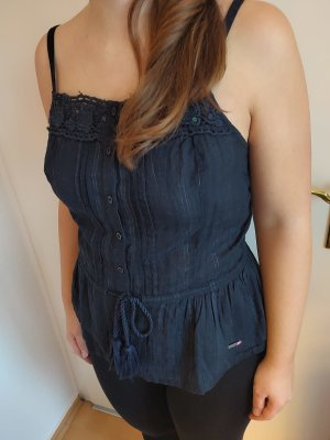 Superdry Peplum Top dark blue