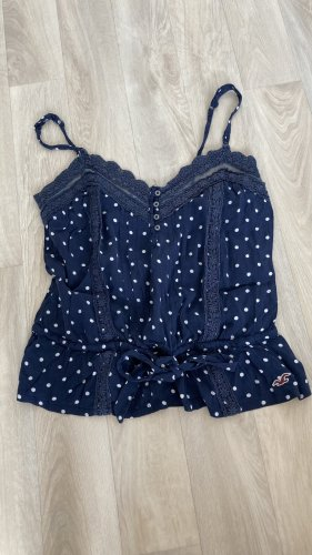 Hollister Frill Top white-blue