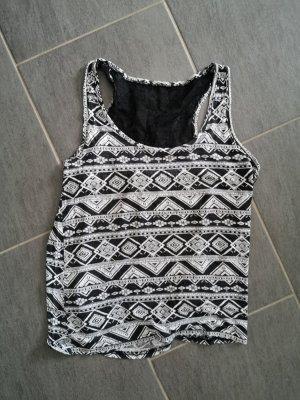 H&M Strappy Top white-black