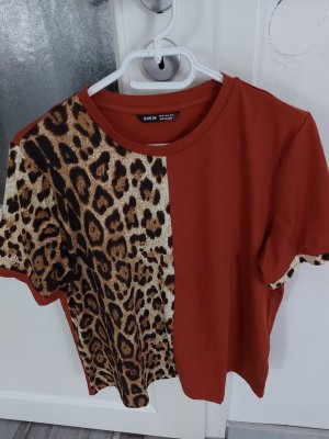 Schönes Top Tshirt Bluse in Braun Leo gr.L XL