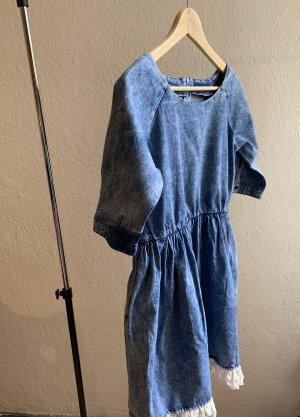 Vintage Robe en jean multicolore coton