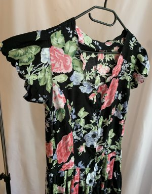 Vintage Maxi-jurk veelkleurig Viscose