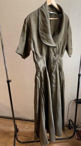 Schönes true vintage Maxi 100% Leinen Dress